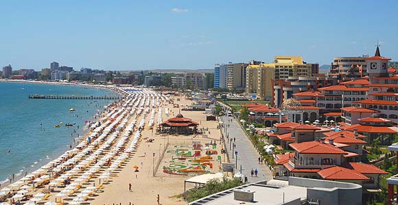 Sunny beach Bulgaria - general view, panorama